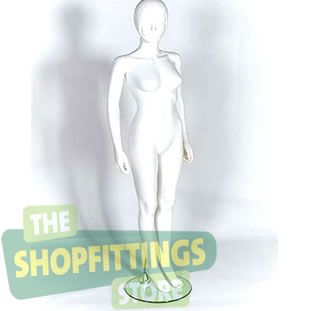 Female White Mannequin With Moulded Head